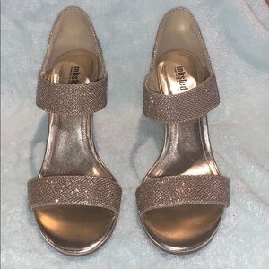 Unlisted Kenneth Cole Glittery Gold Dress Shoes